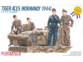Dragon - figurky německých vojáků, osádka tanku Tiger, Normandie, 1944, Model Kit 6028, 1/35