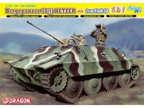 Dragon - Bergepanzer 38, Hetzer s flakem 2cm FlaK 38, 1/35, Model Kit 6399