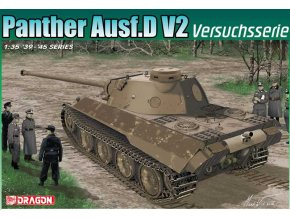 Dragon - Pz.Kpfw.V Ausf.D V2 Panther, zkušební série, Model Kit 6830, 1/35