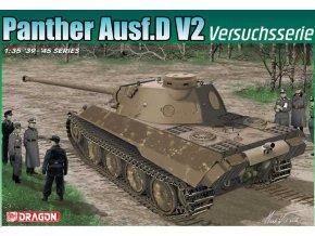 Dragon - Pz.Kpfw.V Ausf.D V2 Panther, zkušební série, Model Kit 6830, 1/35