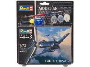 Revell - Chance Vought F4U-4 Corsair, Model Set 63955, 1/72