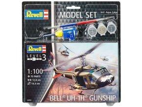Revell - Bell UH-1H Gunship, ModelSet vrtulník 64983, 1/100