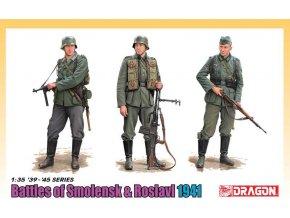 Dragon - figurky německých vojáků, bitva o Smolensk a Roslavl 1941, Model Kit 6791, 1/35