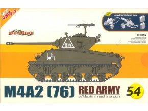 Dragon -  M4A2 (76) Sherman + kulomet Maxim, sovětská armáda, 1/35, Model Kit 9154