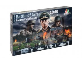 Italeri - diorama bitva u Arrasu 1940, Rommelova ofenziva, Model Kit 6118, 1/72