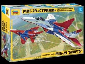 """Zvezda - Mikojan-Gurevič MiG-29  Fulcrum """"Swifts"""", Model Kit 7310, 1/72"""