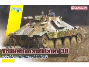 Dragon - průzkumný tank Vollkettenaufklaerer 38 s 75mm Kanonem 51 L/24,  Model Kit 6815, 1/35