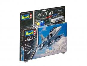 Revell -  Saab JAS-39D Gripen, 1/72, ModelSet 63956