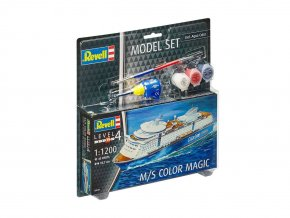 Revell - M/S Color Magic,  ModelSet 65818, 1/1200