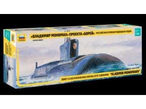 "Zvezda - ruská jaderná ponorka třídy Borej ""Vladimir Monomach"", Model Kit 9058, 1/350"