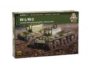 Italeri - těžký tank KV-1 / KV-2, Model Kit tank 15763, 1/56