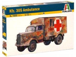 Italeri - Opel Blitz Kfz. 305 Ambulance, Model Kit 7055, 1/72