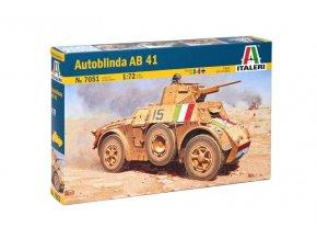 Italeri - obrněné vozidlo Autoblinda AB41, Model Kit 7051, 1/72