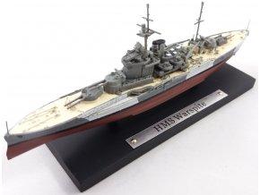 Atlas Models - Bitevní loď HMS Warspite, Royal Navy, 1/1250