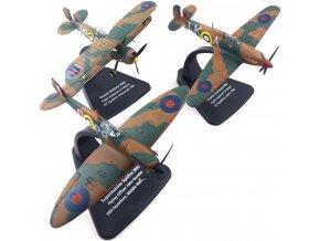 Oxford - Set Bitva o Británii, Supermarine Spitfire Mk.I, Hawker Hurricane Mk.I, Gloster Gladiator Mk.II, 1/72