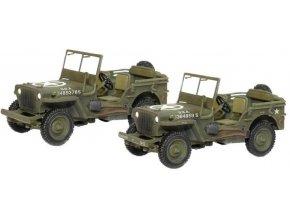 Dragon - Jeep Willys, US Army 101.Airborne, západní fronta, 1944, set 2 ks, 1/72