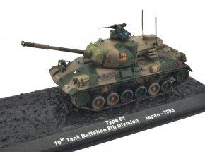 Altaya/IXO - Type 61, 10.tankový batalion, Japonsko, 1993, 1/72 - SLEVA 25%