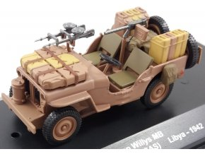 Eaglemoss - Jeep Willys MB, Special Air Service - SAS, Lybie, 1942, 1/43