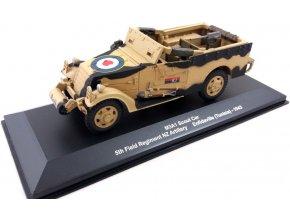 Eaglemoss - M3A1 Scout Car, britská armáda, 5.novozélandský regiment, Tunis, 1943, 1/43