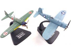 Atlas Models SET - Vought F4U Corsair a Mitsubishi A6M3 Zero, USAAF / Japonské císařské námořní letectvo, válka v Pacifiku, 1/72