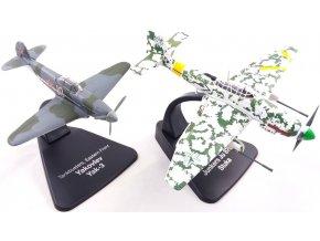 Atlas Models SET - Yakovlev Yak-3 a Junkers Ju 87G Stuka, sovětské letectvo / Luftwaffe, východní fronta, 1/72