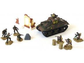 Forces of Valor - M4A1 Sherman s vojáky, Francie, 1944, 1/72