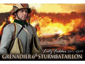 DID - WWI, ''Lutz Fedder'', German Grenadier, 6th Sturmbatallion, 1917-1918, 1/6