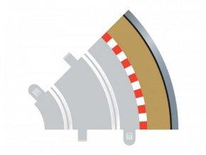 Scalextric - Vnější okraj dráhy 45°, Rozšíření trati SCALEXTRIC C8240