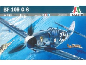 Italeri - Messerschmitt Bf-109G-6, Luftwaffe, Model Kit letadlo 0063, 1/72