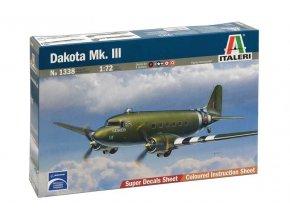 Italeri - Dakota Mk.III, Model Kit letadlo 1338, 1/72