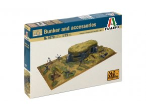 Italeri - WWII - BUNKER AND ACCESSORIES, Model Kit diorama 6070, 1/72