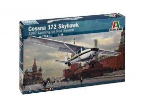 Italeri - Cessna 172 Skyhawk, přistání na Rudém náměstí, 28. května 1987, Model Kit letadlo 2764, 1/48