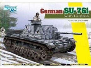 Dragon - samohybné dělo Su-76i, Wehrmacht, kořistní varianta, Model Kit tank 6856, 1/35
