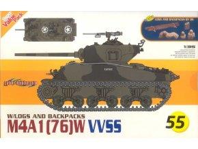 Dragon - M4A1 (76) W VVSS Sherman, Model kit tank 9155, 1/35