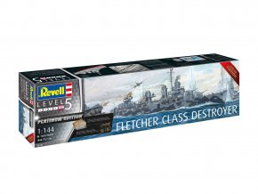 Revell - torpédoborec třídy Fletcher, 1/144, ModelKit 0515