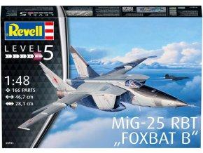 Revell - Mikojan-Gurevič MiG-25 RBT Foxbat B, Plastic ModelKit letadlo 03931, 1/48