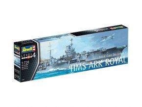 Revell - set letadlové lodě Ark Royal a torpédoborce třídy Tribal, ModelKit 05149, 1/720