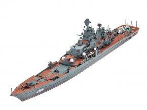 Revell - raketový křižník Petr Velikiy, 1/700, ModelKit 05151