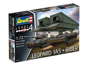 Revell - Leopard 1A5 &  mostní tank Biber, Bundeswehr, Plastic ModelKit tanky 03307, 1/72
