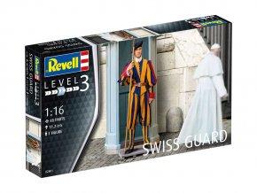 Revell - figurky Švýcarská garda, Švýcarsko, Plastic ModelKit figurka 02801, 1/16