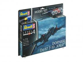 Revell -  Dornier Do-17 Z-10 Kauz II, ModelSet letadlo 63933, 1/72