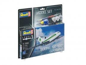 Revell - Boeing B727-100, Germania, ModelSet letadlo 63946, 1/144