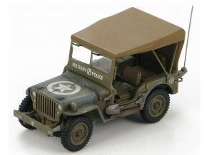 HobbyMaster - Jeep Willys, US Army 101. Military Police, Itálie, 1945, 1/48