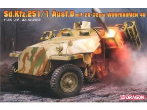 Dragon - Sd.Kfz.251/1 Ausf.D ''Hakl'' s 28/32cm Wurfrahmen 40, Model Kit military 6861, 1/35