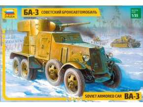Zvezda - obrněný automobil BA-3, Model Kit military 3546, 1/35