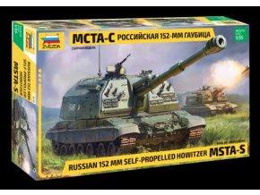 Zvezda - MSTA-S ruská samohybná kanónová houfnice, Model Kit military 3630, 1/35