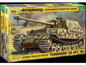Zvezda - Sd.Kfz.184 Ferdinand, Model Kit tank 3653, 1/35