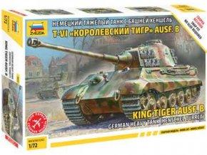 Zvezda - Pz.Kpfw.VI Ausf.B Tiger II - Königstiger, věž Henschel, Model Kit tank 5023, 1/72