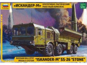 Zvezda - operačně-taktický raketový systém 9K720 Iskander-M / SS-26 Stone, Model Kit military 5028, 1/72