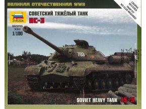 Zvezda - sovětský těžký tank IS-3, Wargames (WWII) tank 6194, 1/100